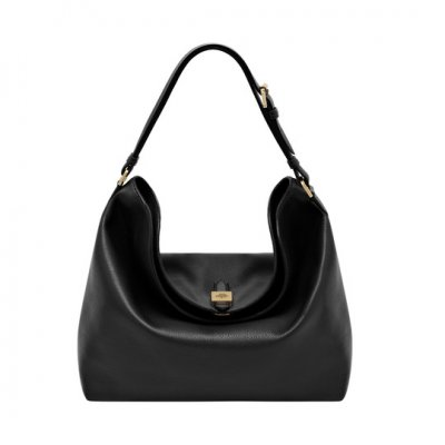 New Mulberry Handbags 2014-Tessie Hobo Black Soft Small Grain
