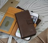 2015 Latest Mulberry iPhone 6/iPhone 5S Case in Chocolate Leather