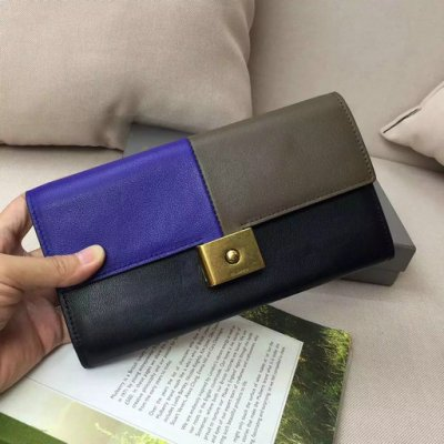 2016 Latest Mulberry Cheyne Wallet Indigo,Clay & Black Smooth Calf