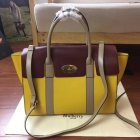2017 Cheap Mulberry Bayswater with Strap Sunflower Dune & Oxblood Smooth Calf