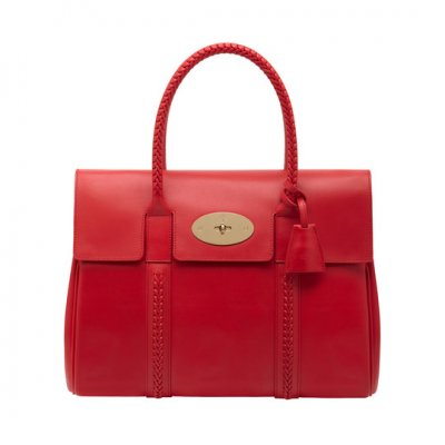 Mulberry Pembridge Bayswater Bright Red Soft Tan