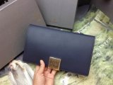 2014 A/W Mulberry Campden Clutch in Navy Blue Silky Nappa Leather