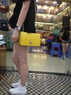 Mulberry Bayswater Clutch Wallet in Yellow Leather