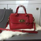 2015 New Mulberry Del Rey Bag in Red Small Grain Leather