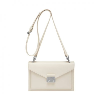 Mulberry Kensal Small Shoulder Bag Cream Velvet Calf