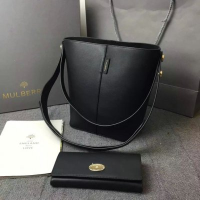2016 Latest Mulberry Small Kite Tote in Black Flat Calf Leather