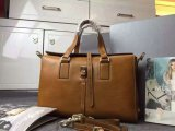 2015 Latest Mulberry Leather Roxette Satchel Bag in Oak