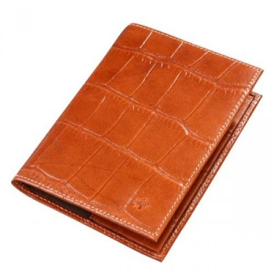 Mulberry 5 Slots Printed Leathers Passport Cover Oak