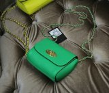 2015 New Mulberry Mini Lily Shoulder Bag Green Small Classic Grain Leather
