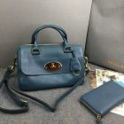 2015 New Mulberry Del Rey Bag in Petrol Blue Leather