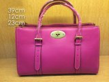 2014 Mulberry Bayswater Double Zip Tote Bag in Mulberry Pink Leather