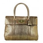Mulberry Bayswater Metallic Python Gold