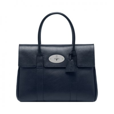 Mulberry Bayswater Midnight Blue Shiny Goat