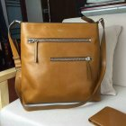 2016 Mens Mulberry Top Zip Messenger Bag in Oak Leather