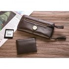 Mulberry Cow Leather Long Dark Coffee Wallet 8392-342