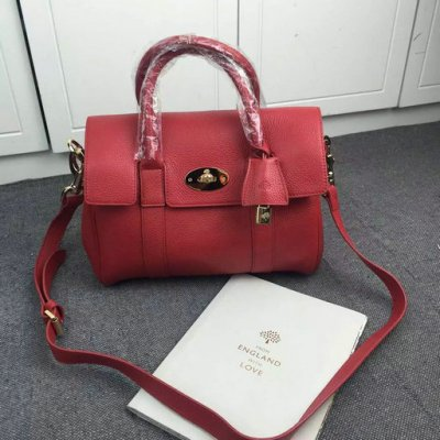 2016 Latest Mulberry Small Bayswater Satchel Fiery Spritz Small Classic Grain