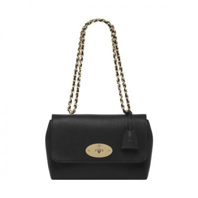 Mulberry Medium Lily Black Soft Grain With Soft Gold