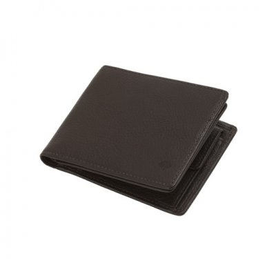 Mulberry 8 Card Coin Wallet Chocolate Natural Leather