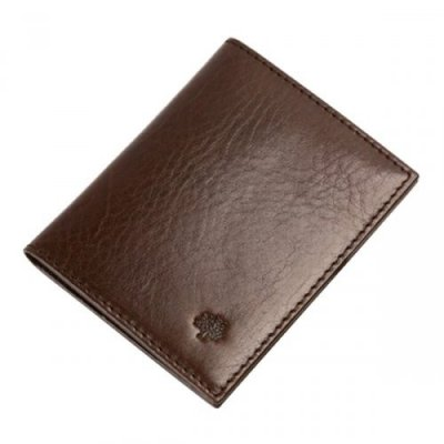 Mulberry 8 Slots Natural Leathers Passport Cover Chocolate