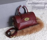 2015 Mulberry Small Del Rey Bag Oxblood Natural Leather