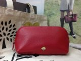 2014 A/W Mulberry Make Up Case Poppy Red Small Grain Leather