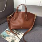 2015 New Mulberry Medium Alice Zipped Tote Bag in Brown Small Grain Leather