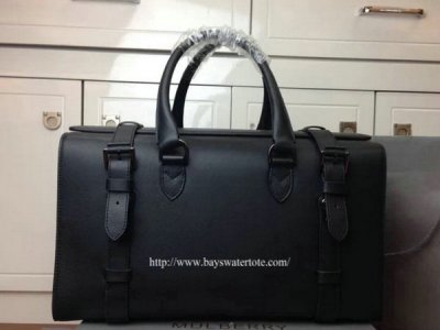 2014 F/W Mulberry Somerton Holdall Black Smooth Saddle