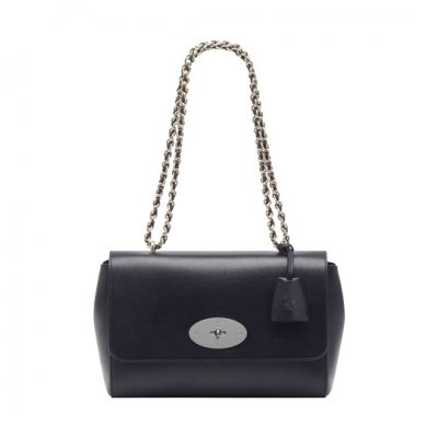 Mulberry Medium Lily Midnight Blue Shiny Goat