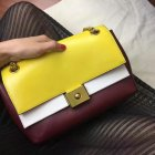2017 Cheap Mulberry Small Cheyne Sunflower,Chalk & Oxblood Smooth Calf