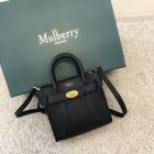 2018 Mulberry Micro Zipped Bayswater Black Small Classic Grain