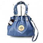 Mulberry Women Daria Drawstring Leathers Tote Bag Blue