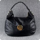 Mulberry Pebbled Mitzy Hobo Tote Bag Leather Black