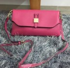 2015 New Mulberry Tessie Shoulder Bag in Fuchsia Soft Grain Leather