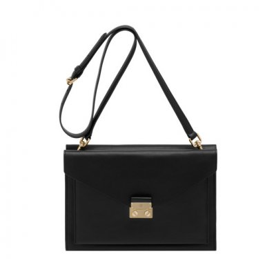 Mulberry Kensal Shoulder Bag Black Velvet Calf