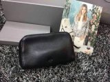 2015 Unisex Mulberry Leather Clutch 8437 in Black