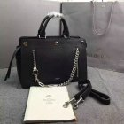 2016 Fall/Winter Mulberry Chain Front Zip Chester Tote Bag Black Textured Goat Leather