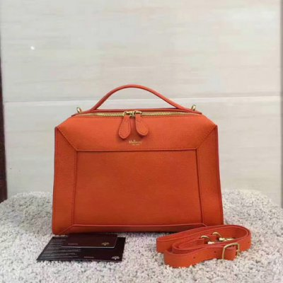 2017 Cheap Mulberry Small Hopton Orange Classic Grain Leather