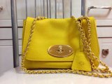 2014 Mulberry Lily Shoulder Bag in Yellow Soft Grain