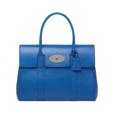 Mulberry Bayswater Bluebell Blue Shiny Goat
