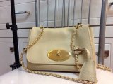 2014 Mulberry Lily Shoulder Bag in Beige Soft Grain