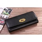 Mulberry Long Wallet Glazed Goat Leather Black 8253-342