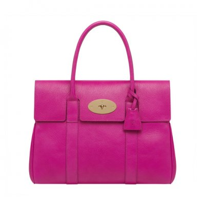 Mulberry Bayswater Mulberry Pink Glossy Goat