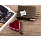 Mulberry Heart Wine Red Patent Leather Wallet 8469-569