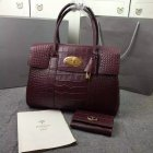 2016 Hottest Mulberry Bayswater Tote Bag Oxblood Croc Leather