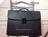 2014 Mens Mulberry Double Briefcase Bag in Black Leather