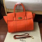 2017 Cheap Mulberry Bayswater with Strap Bright Orange Small Classic Grain