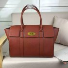 2016 Latest Mulberry New Bayswater Bag in Oak Natural Grain Leather