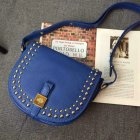 2015 Mulberry Small Tessie Satchel Blue with rivets details