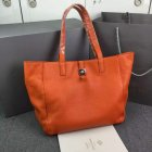 2015 New Mulberry Tessie Tote Bag in Orange Soft Leather