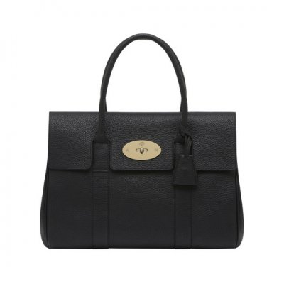 Mulberry Bayswater Black Soft Grain With Soft Gold